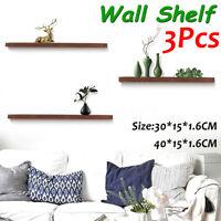 3Pcs Floating Wall Mount Shelves Bookshelf DVD Shelf Pictures Display Home Decor