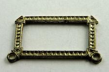 Antique Sterling Silver Deco Rectangle Bracelet ? Piece w/ Marcasites #EST561
