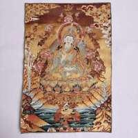 "36"" Tibet Tibetan Cloth Silk Guru Padmasambhava Rinpoche Tangka Thangka Mural"