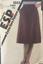 5223 Vtg Simplicity Pattern Misses' ESP Skirt gathered to waistband size 6, 8