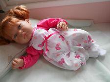 ens neuf salopette 3 pc compatible poupée reborn,baigneur,antonio juan40/45 cm