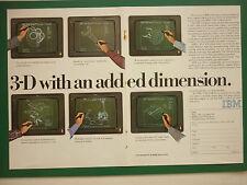 1/1983 PUB IBM 3D CAD/CAM CAO/DAO SOFTWARE COMPUTER LOGICIEL ORIGINAL AD