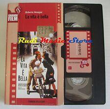 film VHS LA VITA E' BELLA R. Begnini CARTONATA CORRIERE DELLA SERA (F9*)no dvd