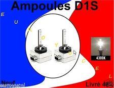2 AMPOULES DE RECHANGE D1S D1R 35W 4300k NEUF RENAULT AUDI BMW MERCEDES QUALITE