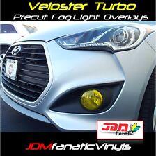 13-17 Veloster TURBO Fog Light Overlays Yellow Tint Vinyl KDM Rally HID PRECUT