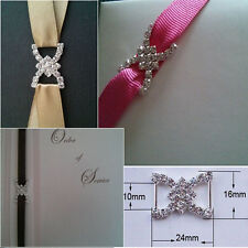 10xGrade A Diamante Rhinestone Ribbon buckle Sliders10mm Inner Bar(NOT SECONDS)