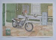 Acuarela original,en papel Arches de 300 g Moto Suzuki van van,watercolour