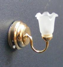 1:12 Scale Working LED Battery Tulip Wall Light Dolls House Miniature DE303