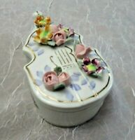 "Vintage NAPCO Ceramic Cello 5"" x 2"" & 2 Ashtrays-Very Good Might Be Small Chips"