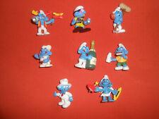 SMURFS*:   PEYO  X  8  Differents Smurfs