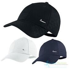 Nike Metal Swoosh Mens Sports Peak Cap Baseball Hat Logo Adjustable Running Golf