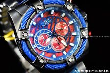 New Invicta Men's 52mm Bolt Chronograph Black Current Red Abalone Dial SS Watch