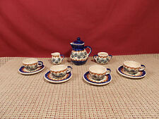 Boleslawiec Pottery ? Poland 11 Piece Minature Childs Tea Set