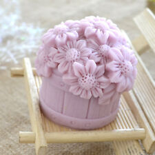 Flower Chocolate Mould Silicone Decorative Soap Candle Molds Resin,Clay Forms