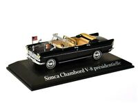 Model car DieCast Presidential Car ´61 Simca Chambord de Gaulle 1/43 metal Norev