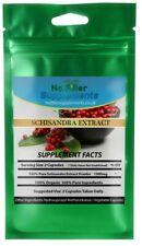 100% puro estratto di Schisandra Biologica capsule vegetali alto in schisandrin