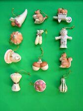 Lenox Autumn Delights 12 miniature Tree Ornaments set New in Box Thanksgiving