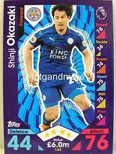Match Attax 2016/17 Premier League - #143 Shinji Okazaki - Leicester City