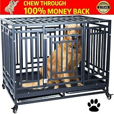 Heavy Duty Dog Crate Cage Kennel Playpen Large Strong Metal