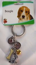 Beagle dog New With Tags Monty`s Hallmark Key Chain sterling silver color