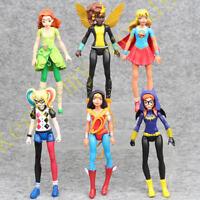 "6 Pcs DC Super Hero 6"" Super Girl Harley Quinn Batgirl Action Figure Toy Doll"
