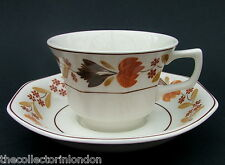 Vintage 1980's Adams Ironstone Goldenvale Pattern Tea Cups & Saucers Look in VGC