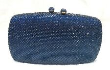 Blue Double Balls Lock Women Bridal/Prom/Evening Crystal Metal Case Clutch Bag