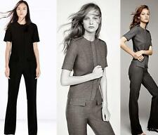 ZARA BLOGGERS BLACK FITTED JUMPSUIT WITH FLAP POCKETS SIZE M - BNWT