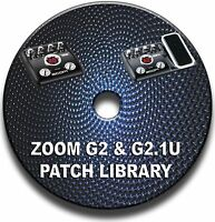 ZOOM G2 & G2.1u PATCH TONE LIBRARY CD GUITAR EFFECTS PEDALS