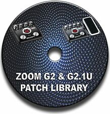 ZOOM G2 & G2.1u PATCH LIBRARY CD GUITAR EFFECTS PEDALS