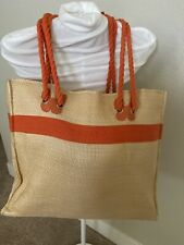 Escada Large Summer Rope Tote Orange