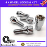 Locking Wheel Bolts 4 + Key M12x1.5 Nuts For BMW 3 Series E21 E30 E36 E46 E90