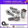 Locking Wheel Bolts 4 + Key M12x1.5 Nuts For BMW 3 Series E21 E30 E36 E46 E90