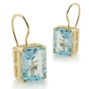 Sky Blue Topaz Wire Drop Earrings