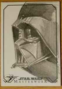 "Jessica Hickman Star Wars Masterwork ""Darth Vader"" Return card AP"