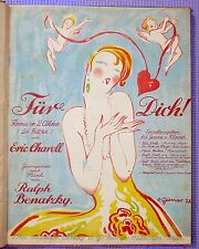 Early 20th c Sheet Music Collection 13 Color Lithograph Covers OTTO DELY Mucha++
