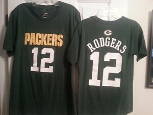 AARON RODGERS GREEN BAY PACKERS Kids Youth Tee Shirt Small (8) New Free Ship