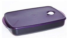 Tupperware Vent N Serve Container 6 Cups Microwave Safe Purple New