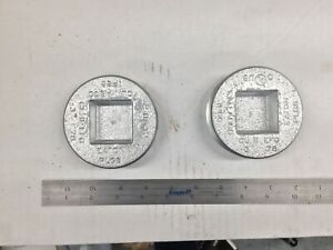 """(2) Eaton Crouse-Hinds 3"""" PLG8 Explosion Proof Conduit Plug Recessed Square Head"""
