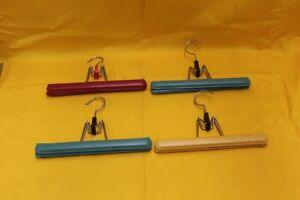 4 Hosenbügel DDR mit Lederbezug