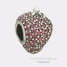 Authentic Pandora Sterling Silver Red CZ Pave Strawberry Bead 791899CZR *SPECIAL