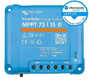 Régulateur Solaire VICTRON Smart Solar MPPT 75/15 12/24v 15A SCC075015060R