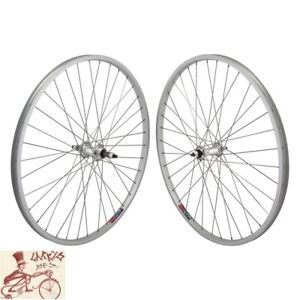 """WHEEL MASTER 5/6/7-SPEED FREEWHEEL BOLTED 26"""" x 1.5""""  SILVER FRONT REAR WHEELSET"""
