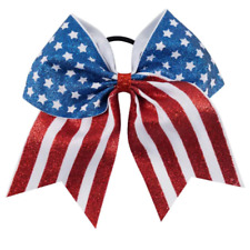 Camouflage Hair Bow US Patriotic Softball Volleyball Soccer Ponytail Cheer Army