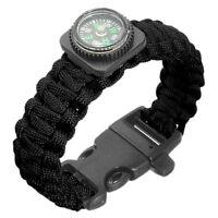 550 Tactical Survival Bracelet Compass Paracord Parachute Braiding Compass H6N7