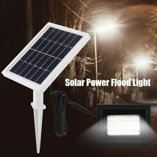 80LED Solarleuchte Solarlampe Strahler Flutlicht Außenleuchte mit Solar Panel HD