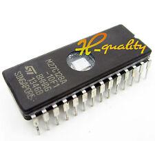 5PCS M27C128A-10F1 IC EPROM UV 128KBIT 100NS 28CDIP NEW