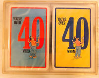 Vintage Sealed Card Deck Over 40 When Plastic Case Funny Birthday Gag Gift NIB