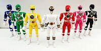 """Vintage 1993 Bandai 8"""" Mighty Morphin Power Rangers Action Figures Lot of 7"""