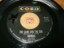 DUPREES - THE SAND AND THE SEA - SIN   / LISTEN - DOO WOP